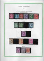 France Timbres Préoblitérés - Collection Vendue Page Par Page - Timbres Neufs Neufs */(*) - B/TB - Preobliterados