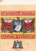 Emballage Superbement Illustré Chocolat AIGLON CHOCOLATERIE L'AIGLON S.P.R.L. VERVIERS -Tablette 350 Grs AIGLON VELOURS - Chocolat