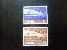 ZAMBIA ZAMBIE 1967 Inaguración Aeropuerto LUSAKA Yvert N 32 / 33 ** MNH - Zambia (1965-...)