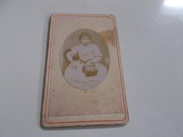 B688  Foto Cartonata Bambina Cm6,5x10,5 Macchie Umido - Fotografia