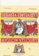 Emballage Illustré Chocolat AIGLON CHOCOLATERIE L'AIGLON L. GRIVEGNEE- VERVIERS -Tablette 350 Grs AIGLON VELOURS - Chocolat
