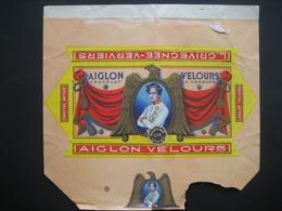 Emballage Superbement Illustré Chocolat AIGLON L. GRIVEGNEE VERVIERS -Tablette 175 Grs AIGLON VELOURS Chocolat à Croquer - Chocolate