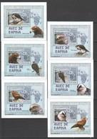 U599 2007 MOCAMBIQUE FAUNA BIRDS AVES DE RAPINA 6 LUX BL MNH - Adler & Greifvögel