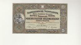 5 Franken Schweiz  1951 - Suisse