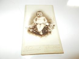 B688  Foto Cartonata Bambino Cm10.5x6,5 Durand Montpellier Presenza Alcune Pieghe - Fotografia