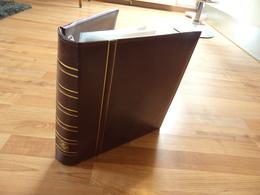 Leuchtturm - Reliure Bordeaux Pour Lettres Ou Billets 280x325 Mm Avec 50 Feuilles à 2 Et 3 Compartiments - Bon état - Albums & Reliures