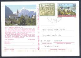 Austria PS  Postal Stationery 2002: Architecture Castle Church Monastery; Stift Kirche Schloss Burg Grain: GASCHURN Lake - Holidays & Tourism