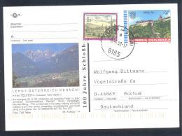 Austria PS  Postal Stationery 1988: Architecture Castle Church Monastery; Stift Kirche Schloss Graz: Telfes; Mountains B - Holidays & Tourism