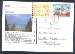 Austria PS  Postal Stationery 2002: Architecture Castle Schloss Rosenburg: SÖLL; Mountains Berge; Frama Label 2,00 - Holidays & Tourism