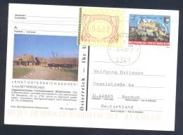 Austria PS  Postal Stationery 2002: Architecture Castle Schloss Hoherwerfen: Mitterkirchen; Frama Label 2,00; Lion - Holidays & Tourism