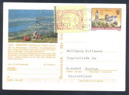 Austria PS  Postal Stationery 2002: Tourism Architecture Castle Schloss Schlaining: SEEBODEN Slogan; Frama Label 2,00; E - Holidays & Tourism