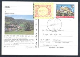 Austria PS  Postal Stationery 2002: Tourism Architecture Castle Schloss Hoherwerfen: LOICH Frama Label 2,00; Lion Coat O - Holidays & Tourism