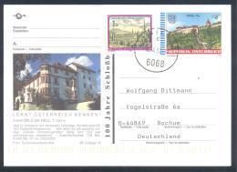 Austria Postal Stationery 2002: Architecture Castle Church Monastery; Stift Kirche Schloss Graz: MILS Bei HALL; Tourism - Holidays & Tourism