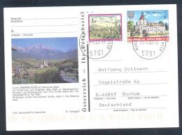 Austria Postal Stationery 2002 Architecture Castle Church Monastery; Schloss Schwarzenau: MARIA ALM; Mountains Berge - Sonstige
