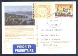 Austria PS Priority Postal Stationery 2002: Tourism Architecture Castle Schloss Schlaining: REIFNITZ; Frama Label 2,00;  - Sonstige
