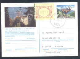 Austria PS Priority Postal Stationery 2002: Tourism Architecture Fauna Capricorn: SILZ; Frama Label 3,00 - Holidays & Tourism