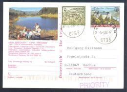 Austria Postal Stationery 2002: Architecture Castle Church Monastery Stift Kirche Schloss Burg Grain, KAPRUN Mountains - Holidays & Tourism