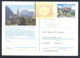 Austria Postal Stationery 2002: Architecture Church Fauna Capricorn, KAPRUN Mountains; Frama Label 3,00 - Holidays & Tourism