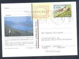 Austria Postal Stationery 2002: Architecture Church Fauna Fanghaft, ST. KANZIAN Lake / See; Frama Label 2,50 - Holidays & Tourism