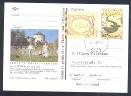 Austria Postal Stationery 2002: Fauna Smaragdeidechse; KUFSTEIN Architecture Castle; Frama Label 2,00 - Sonstige