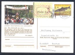 Austria Postal Stationery 2002: Fauna Fish Huchen; ZELL AM ZILLER Carnival, Gauderfest Slogan Cancellation Frama Label 3 - Holidays & Tourism