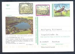 Austria Postal Stationery 2002: Fauna Bird Vogel Kiebitz; Steinbrunn Baden Church; Monastery: Tourism Lake - Holidays & Tourism
