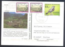 Austria Postal Stationery 2002: Fauna Bird Vogel Rotsterniges Blaukelchen UNKEN Tourism  Chrch Abtei Monestery - Holidays & Tourism