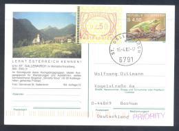 Austria Postal Stationery 2002: Fauna Frog Laubfrosch; ST: GALLENKIRCH Tourism Church Kirche Frama 2,50 - Sonstige