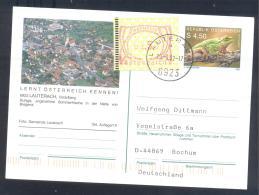 Austria Postal Stationery 2002: Fauna Frog Laubfrosch; SLAUTERACH Tourism Church Kirche Frama 2,50 - Sonstige