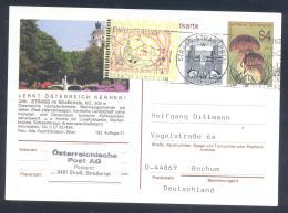 Austria Postal Stationery 2002: Flora Mushroom Fichtenstein Pilze ; STRASS Tourism;  Church Kirche Slogan; Frama 2,50 - Sonstige