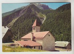 CPSM MEYRONNES (Alpes De Haute Provence) - 1526 M L' église Du Village, La Tête De Séguret 3039 M Et La Cascade - Francia