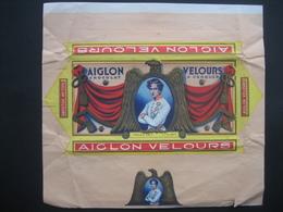 Emballage Superbement Illustré Chocolat AIGLON VERVIERS -Tablette 175 Grs AIGLON VELOURS à Croquer - Publicités