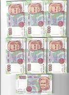 1000 Lire Montessori Serie A 37 + B 13 + C 17 + D 5 + E 3 + G 3 + H 51  129 Pezzi Q.fds/fds - [ 2] 1946-… : Républic