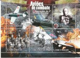 S. Tome E Principe 2010 Pearl Harbor Yamamoto  Plane Avion Airplabe Aviation Japan Pilots CTO - Seychelles (1976-...)
