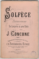 Solfège élémentaire Par Joseph Concone 1840 - Musique & Instruments