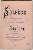 Solfège élémentaire Par Joseph Concone 1840 - Etude & Enseignement