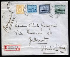 A5445) R-Brief Belgien 1947 Nach Italien - Belgien