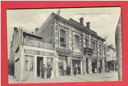 ARCACHON  1916 BOULEVARD D HAUSSEZ BAR TABACS HOTEL DE BORDEAUX  RESTAURANT CARTE EN TRES BON ETAT - Arcachon
