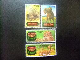ZAMBIA ZAMBIE 1972 Conservación De La Naturaleza Yvert N 77 / 80 ** MNH - Zambia (1965-...)