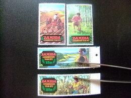 ZAMBIA ZAMBIE 1972 Conservación De La Naturaleza Yvert N 81 / 84 ** MNH - Zambia (1965-...)