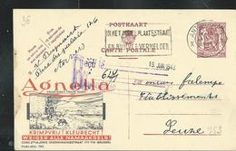 Publibel Obl. N° 753  ( Laines AGNELLA - Wollen; Chien, Dog, Moutons, Berger)  Obl. Antwerpen 1948 - Stamped Stationery