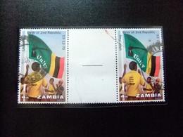 ZAMBIA Zambie 1973 Primer Aniversario De 2ª Republica Yvert N 111 FU Interpanel - Zambia (1965-...)