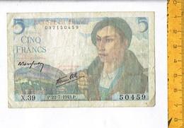 BANQUE DE FRANCE CINQ - 1871-1952 Circulated During XXth