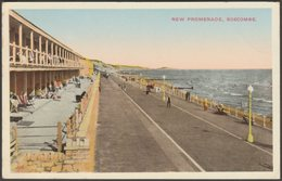 New Promenade, Boscombe, Hampshire, 1937 - Postcard - England