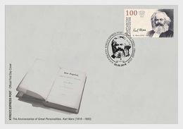 Kirgizië / Kyrgyzstan - Postfris/MNH - FDC Karl Marx 2018 - Kirgizië