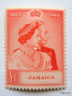 JAMAICA 1948. £1 Red. King George VI And Queen Elizabeth. Silver Wedding Anniversary. SG144. MH - Jamaica (...-1961)
