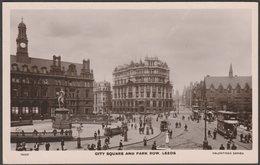 City Square And Park Row, Leeds, Yorkshire, C.1910s - Valentine's XL RP Postcard - Leeds