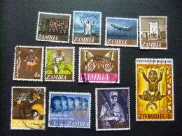 ZAMBIA Zambie 1968  Petite Collection D'anciens Timbres Yvert 39 - 63 FU - Zambia (1965-...)