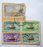 UAE - RAS AL KHAIMA 1965-66. SG17-20 & SG 28, USED. - Ra's Al-Chaima