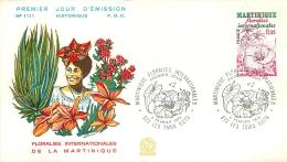 PREMIER JOUR D'EMISSION F.D.C  N°1111  03/02/1979  MARTINIQUE FLORALIES INTERNATIONALES - FDC